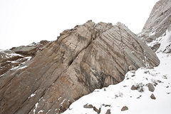 Rock Climbing Photo: Mustache Wall in winter