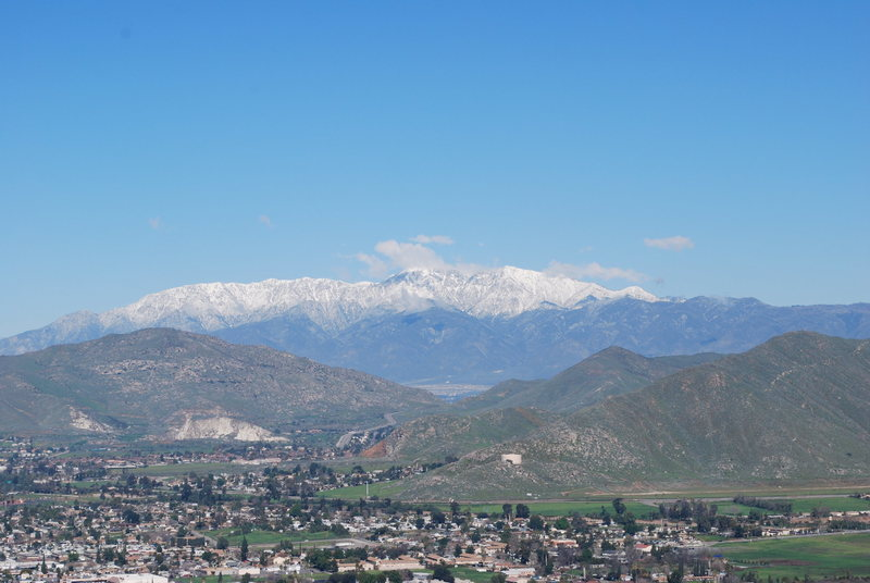 Rock Climbing Photo: another great view from Rubidoux 2-28-10