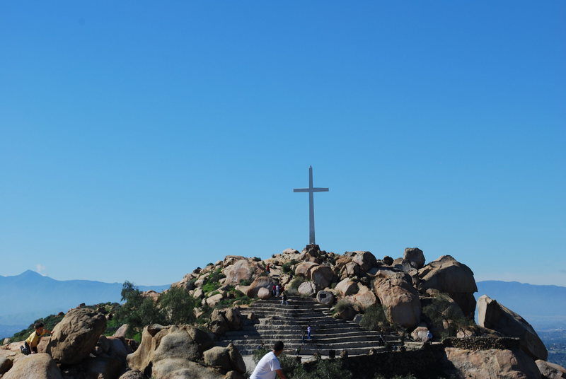 Cross rock at Mt. Rubidoux <br>