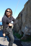 Rock Climbing Photo: Rasta Raj on belay 2-28-10