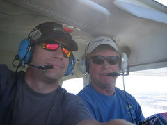 Rock Climbing Photo: Me and Dad flying above S.F. Bay