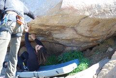 Rock Climbing Photo: Rasta Raj on the start of the Beach Prob. 2-28-10