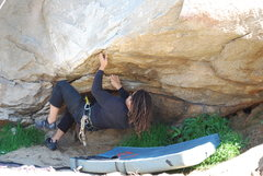 Rock Climbing Photo: Rasta Raj working the Beach Prob. 2-28-10