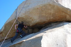 Rock Climbing Photo: Noelle at the roof section of the Beach Prob. 2-28...