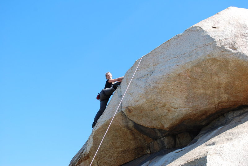 Rock Climbing Photo: Noelle over the crux of the roof section on the Be...