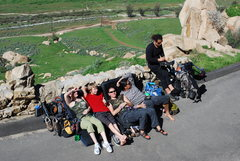 Rock Climbing Photo: the gang hanging out on the side of the road up at...