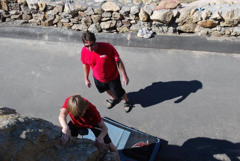 Rock Climbing Photo: Sean and Travis Prastrami bouldering off the main ...