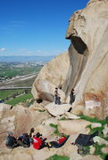 Rock Climbing Photo: climbing on the Smooth Sole wall at Rubidoux 2-28-...
