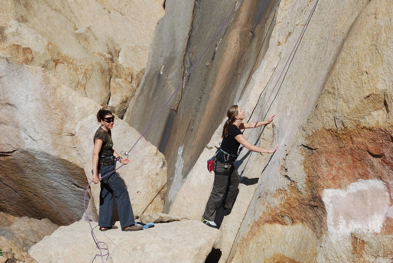 Rock Climbing Photo: helping Noelle out with a belay on Smooth Sole Wal...
