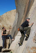 Rock Climbing Photo: Bill on Smooth Sole 2-28-10