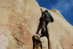 Rock Climbing Photo: Bill on the crack to the right of Smooth Sole 2-28...