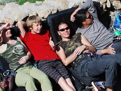 Rock Climbing Photo: hanging out on Rubidoux....great day 2-28-10