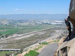 Rock Climbing Photo: Bill climbing up on Rubidoux 2-28-10