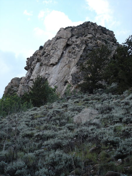 Rock Climbing Photo: 10 minute hike from the car. Start up the road and...