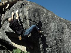 Rock Climbing Photo: bouldering at the Marble Fork overlook. Sequoia NP...