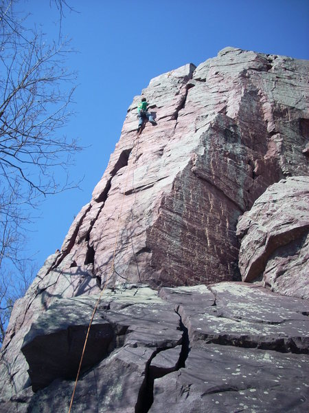 "Rock Climbing Photo: Leading ""The H""."