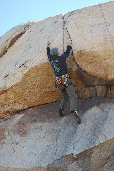 Me on the Haney Overhang. 2-28-10
