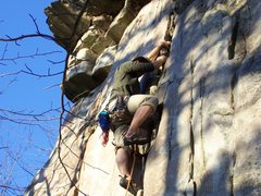 Rock Climbing Photo: arm & jammer-5.7