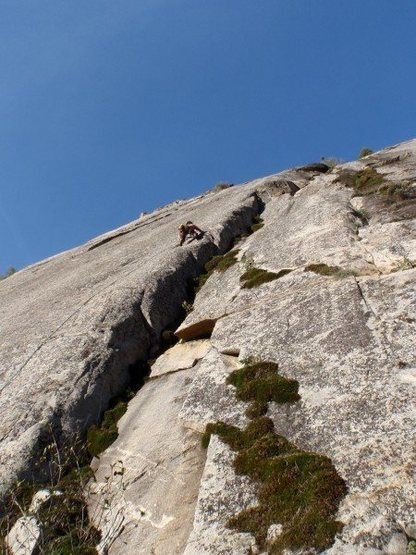 Rock Climbing Photo: Mucci Man sending the Unchaste