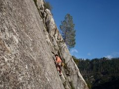 Rock Climbing Photo: Mucci Man on the lead. Whoop!