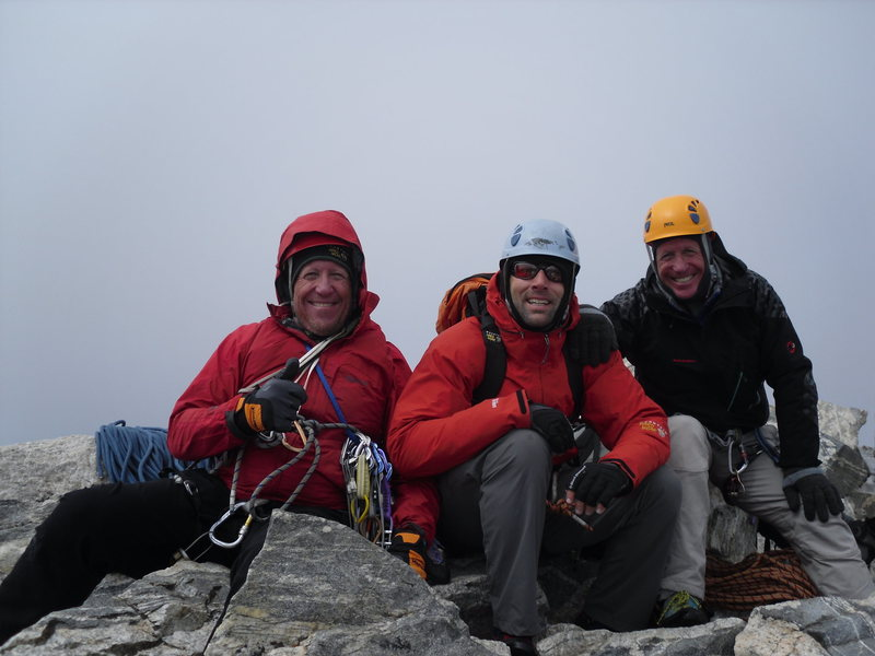 The Summit after a day of below freezing temps and iced up rock