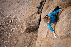 Rock Climbing Photo: Owens River Gorge. Mary Devore on Timeless (5.10c)...
