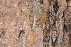 Rock Climbing Photo: Allison meeting Mr. Dubious for the first time. Ma...