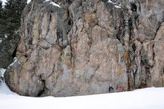 Rock Climbing Photo: Working into the crux of Mr. Dubious. March 2010. ...