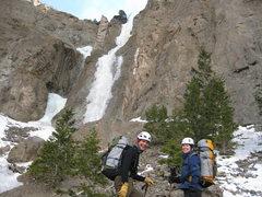 Rock Climbing Photo: Jim & Julie near the base of Duck Soup