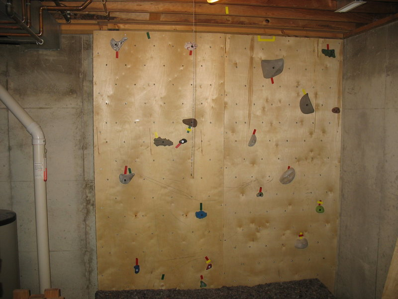 Wall with holds/routes (thanks for the holds Ryan!)