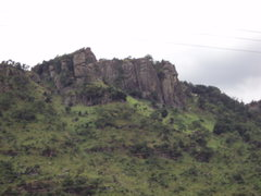 Rock Climbing Photo: Middle of Mount Krobo.  Showing some of the larger...