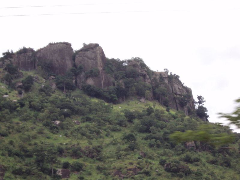 Rock Climbing Photo: South end of Mount Krobo.  Taken from road.