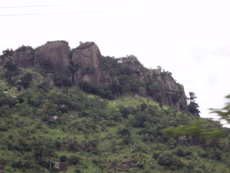 South end of Mount Krobo.  Taken from road.