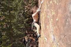 Rock Climbing Photo: Joe Mills goin' big.