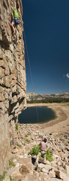 Rock Climbing Photo: An easy top rope for anyone not ready to lead.