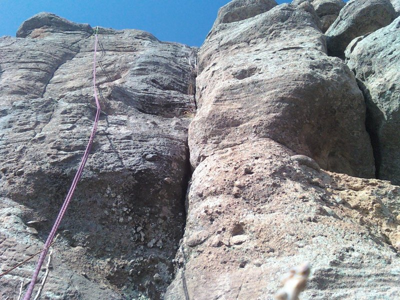 Pic from the bottom; Fun little climb.