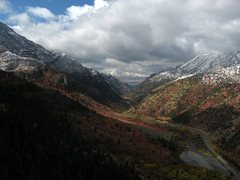 Rock Climbing Photo: Autumn in lower Logan Canyon. Photo was taken from...