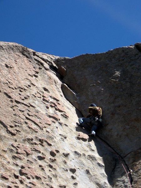 Rock Climbing Photo: Lie-backing, jamming, and great patina edges.