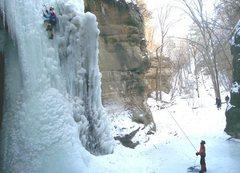 Rock Climbing Photo: The'Mongoose', main ice in Tonti Canyon.