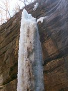 Rock Climbing Photo: After it melted out and detatched, we had this won...