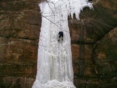 Rock Climbing Photo: Not too often we get to see this much ice on the '...