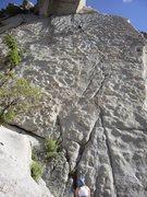 Rock Climbing Photo: Steve on the Coffin Crack, venerable LCC climb.
