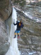 Rock Climbing Photo: On the Ice Dagger, about 2008.