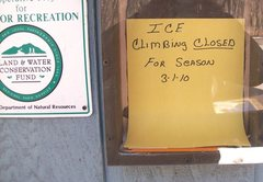 Rock Climbing Photo: Just a reminder for this season......they already ...