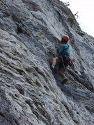 Rock Climbing Photo: Steve clipping on Antidote, East Hellgate