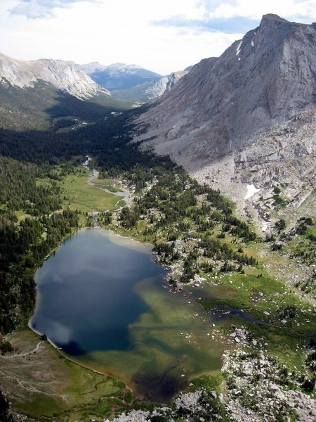 Rock Climbing Photo: The view of Lonesome Lake from the Northeast Face,...