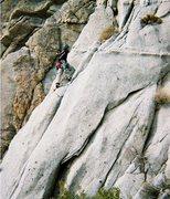 Rock Climbing Photo: Starting up The Essence of Gelfling.