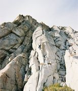 Rock Climbing Photo: Higher on the first pitch of The Essence of Gelfli...
