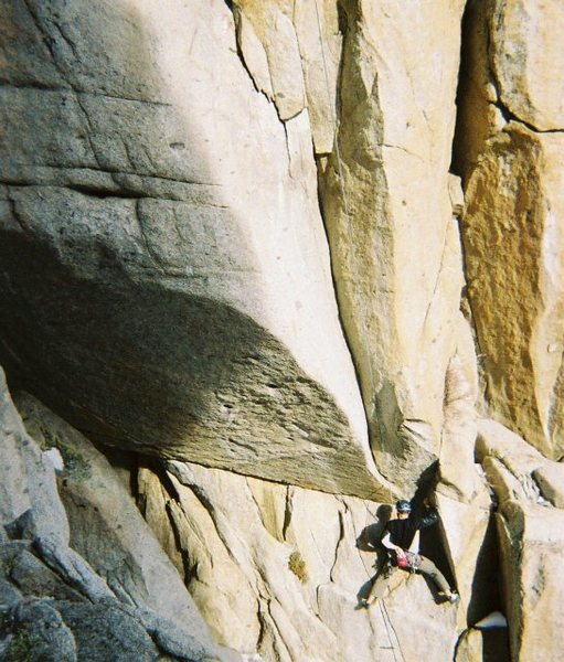 Working steep granite. Woodfords Canyon.