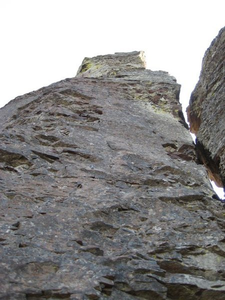"Rock Climbing Photo: ""Feather in My Cap"" (5.6) on the North W..."